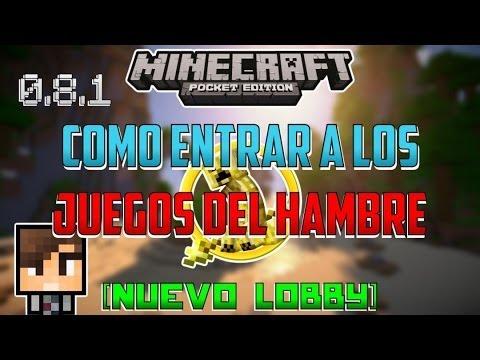 Minecraft PE 0.8.1   Como Entrar A Los Juegos Del Hambre [NUEVO LOBBY]