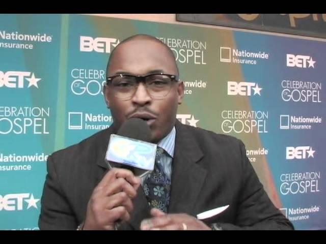 """John McClure Jr. """"Simply John"""" Live on Blue Carpet for BET's Celebration of Gospel 2012"""