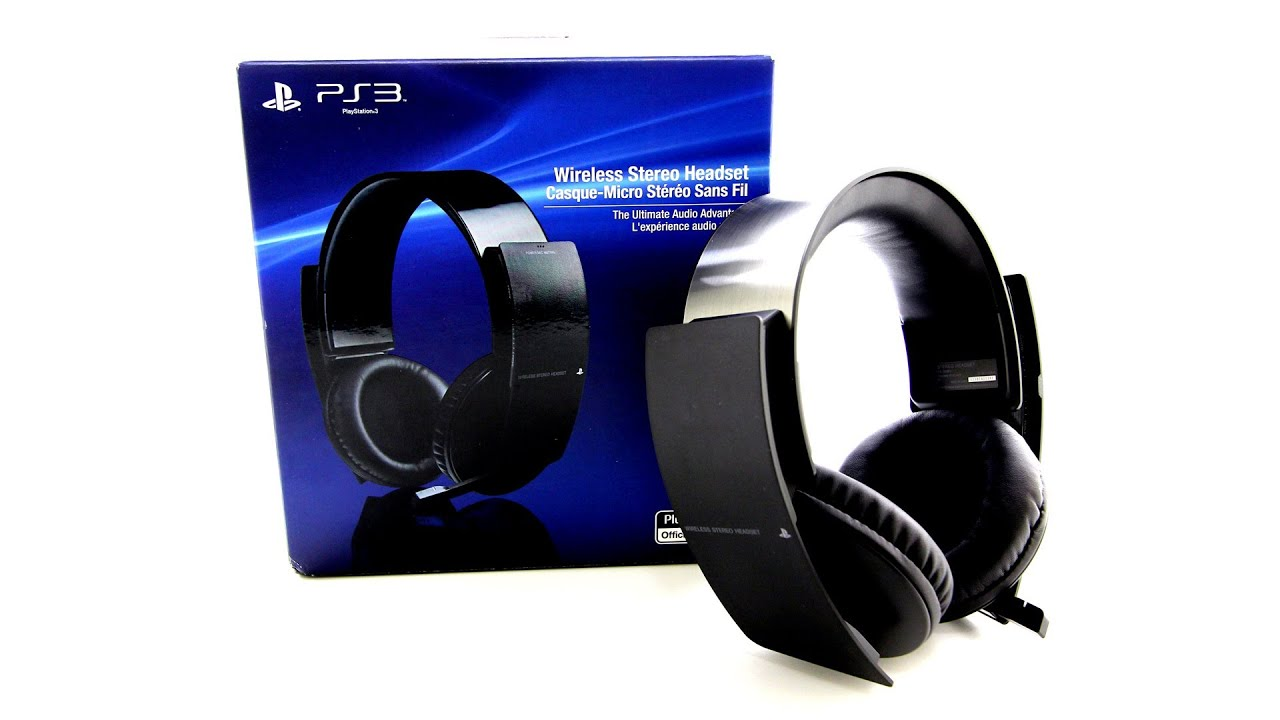 sony ps3 wireless stereo headset unboxing playstation 3. Black Bedroom Furniture Sets. Home Design Ideas