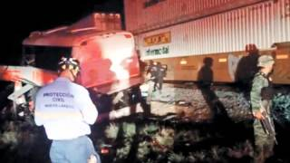 Choque de autobús y tren deja 20 muertos en Coahuila