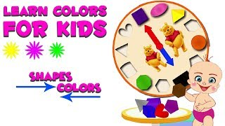 Play And Learn Colors For Kids With Baby Game | Learn Colors And Shapes With Clock Puzzle