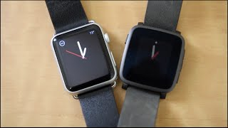 Pebble Time Steel vs Apple Watch!