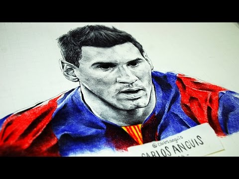 Drawing Messi Dibujando a Messi