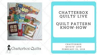 Best Tips for Reading a Quilt Pattern - Chatterbox Quilts' Live Feb. 22, 2018