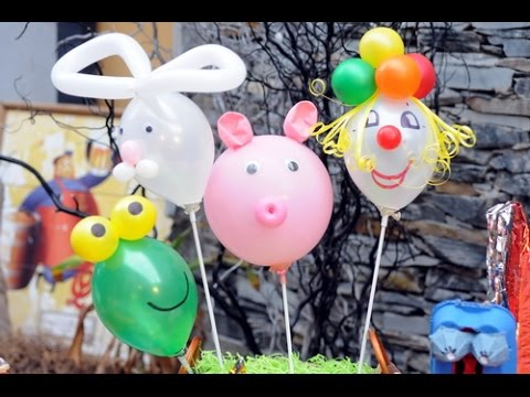 Decoracion con globos como hacer animalitos globarte for Como hacer decoracion con globos