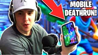I Played My 50 Level Default Deathrun on Mobile Fortnite! (Fortnite Creative Mode Challenge)