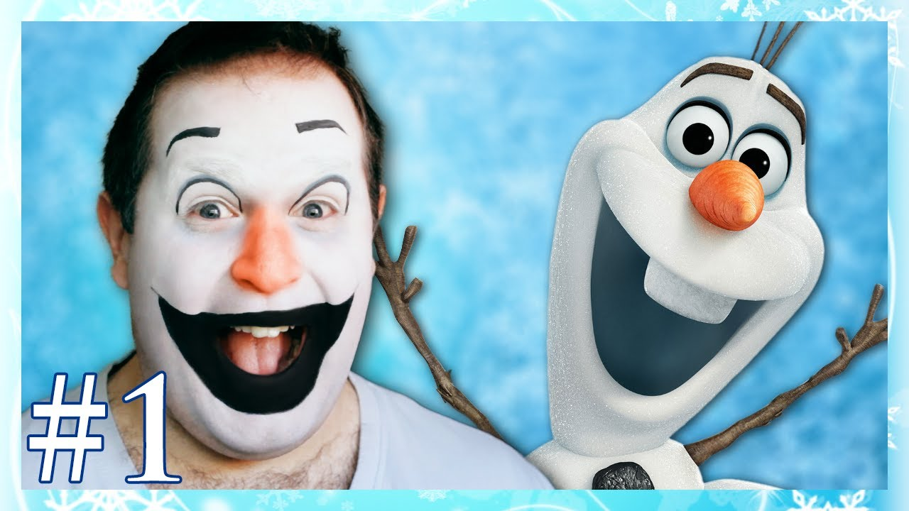 Disney Frozen Olaf Makeup