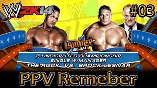 WWE 2K14 - PPV Remember: Brock Lesnar vs The Rock - Summer Slam 2002
