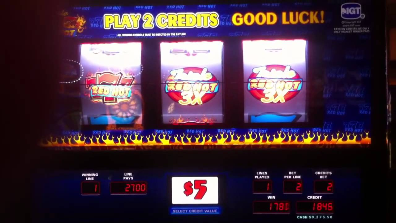 $13,500 Slot Jackpot - Triple Red Hot 7's !!! - YouTube