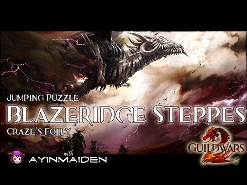 ★ Guild Wars 2 ★ - Jumping Puzzle - Blazeridge Steppes (Craze's Folly)