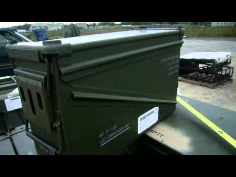 56 Empty 40mm Ammo Cans with Lids on GovLiquidation.com