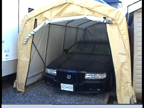 How To Build A Shelter Logic Portable Garage Tent Youtube