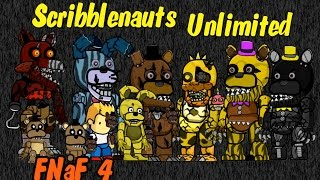 Scribblenauts Unlimited ReDesigns of Five Nights at Freddy