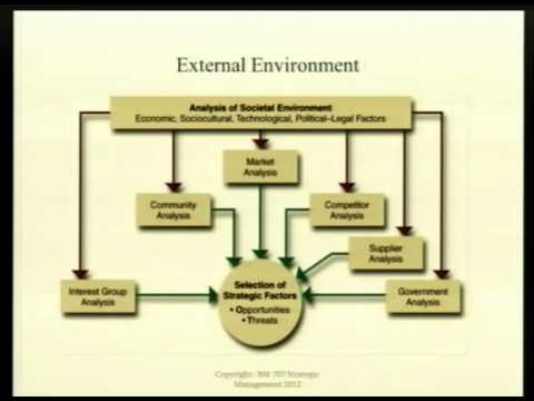 summary of external environment Significance the external environment swot analysis is a detailed look at the industry in which a company operates any company that sells a.