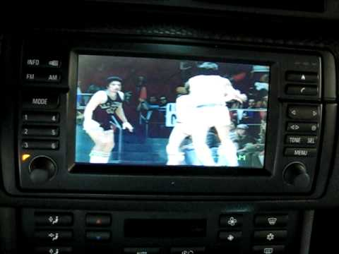BMW E46 OEM TV Tuner, Bluetooth, Sirius, DVD Player, IPhone & Video in Motion