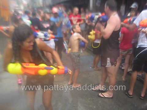 Songkran Phuket Thailand 2009. Thai Girls Wet T-Shirt Contest, Bangla Road. Patong Video