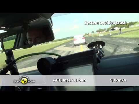 VW Golf - Euro NCAP 2013, тест системы автоматического торможения