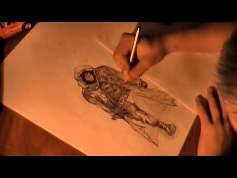 Видео как нарисовать Сталкера карандашом поэтапно