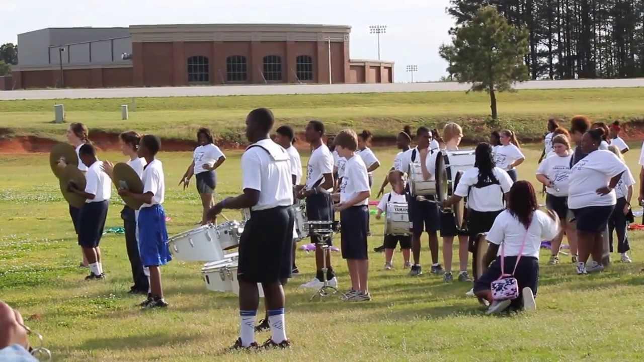 Lamar County High School Drumline Spring 2013 - YouTube