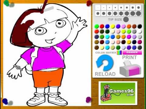 Juego Colorear Saludo de Dora