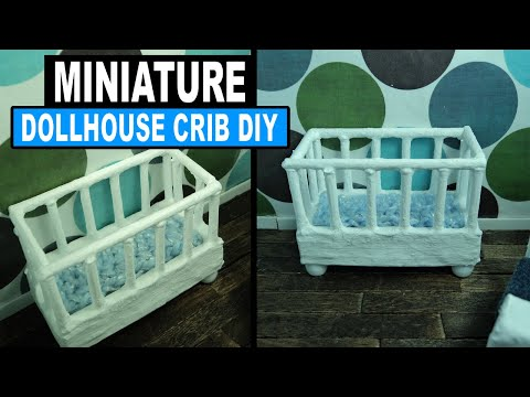 How to Make a Miniature Dollhouse Crib