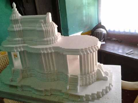 Thermocol art, Temple. - YouTube