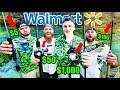 Walmart 1v1v1 Budget Fishing Challenge (Rod, Reel, Lures!)