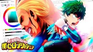 SpeedPaint Anime - Boku no hero academia - Izuku X All Might - ??????????? ?FANART?