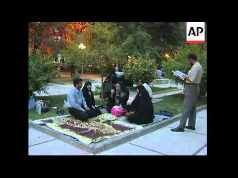 Tehran residents react to quake