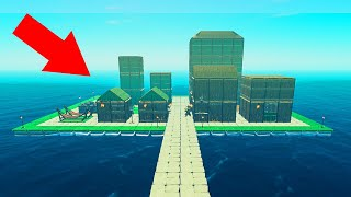BUILDING A CITY ON WATER! (Raft)