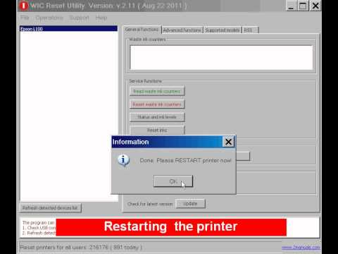Free reset! How to reset Epson L800. L100. L200 printers