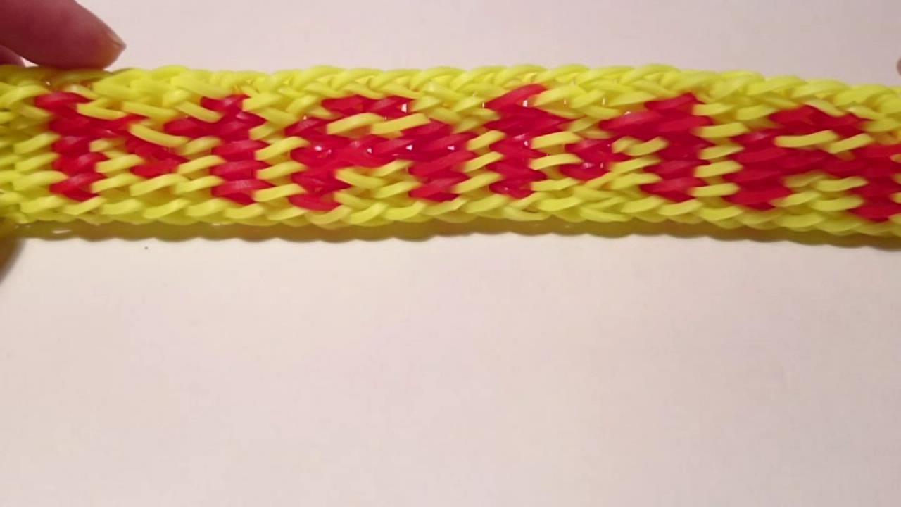 Как сделать браслет из резинок с именем