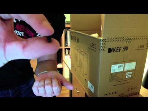 KEF LS50 speaker unboxing