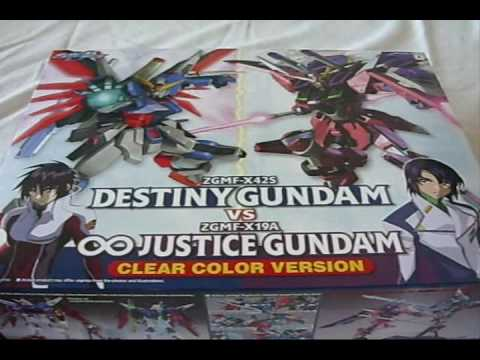 [ Unbox: NG Destiny Gundam vs. Infinite Justice Gundam Clear Color Ver. ] Video