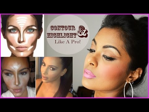 How To Contour & Highlight Different Face Shapes - Contouring For Beginners Dark tan Indian Skin video