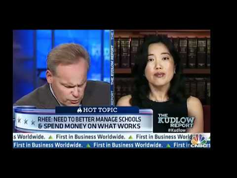 On CNBC Michelle Rhee talks about need to improve public schools, asks unions to join effort