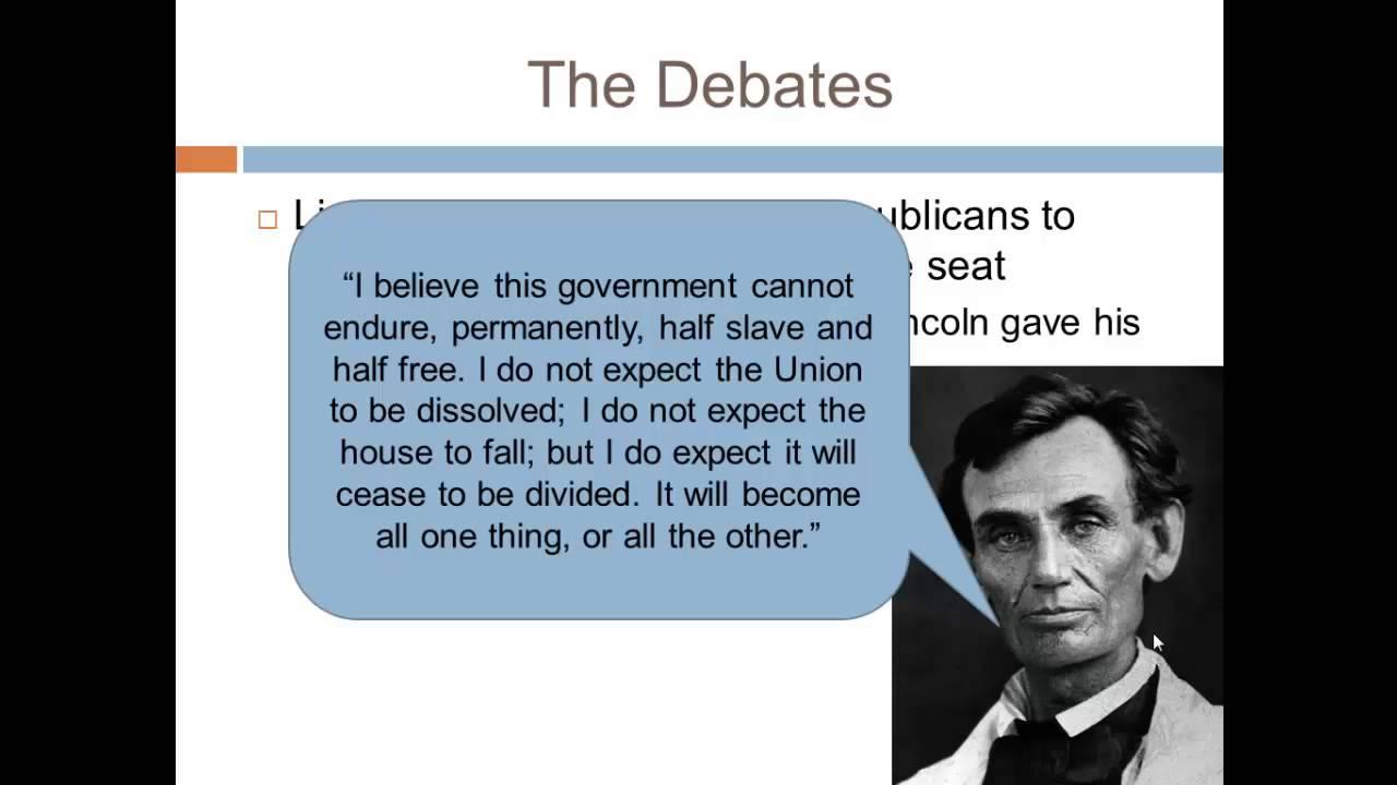 Apush Review The Lincoln Douglas Debates Youtube