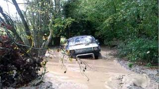 Mitsubishi Pajero - Deep Water Crossing - Old Clip - Fourmarks - Brick Kiln Farm