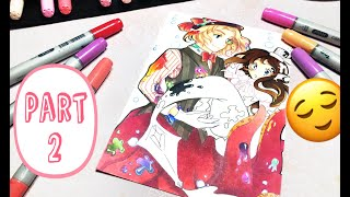 Watch Me Color Realtime! ? Copic Marker Anime Commission Pt. II