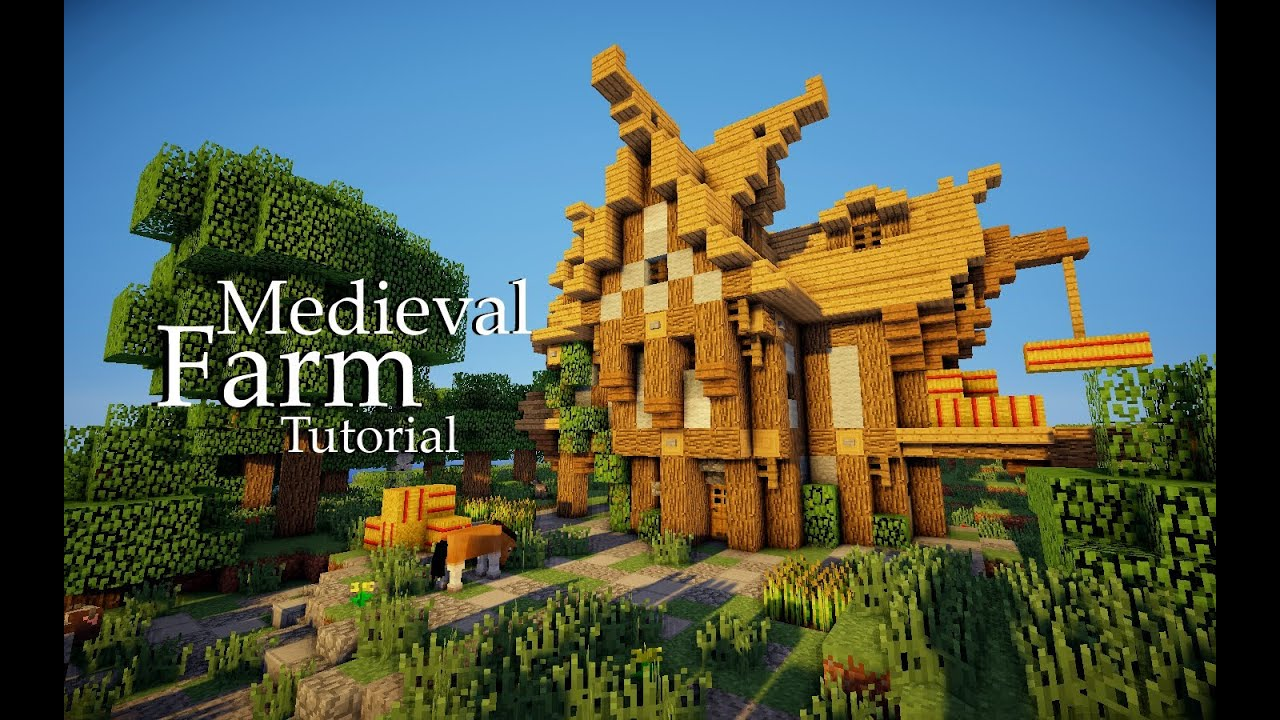 Minecraft Medieval Farmhouse Tutorial YouTube