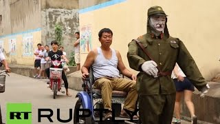 "Ex Chinese soldier reveals his self driving ""Japanese World War II Rickshaw"""