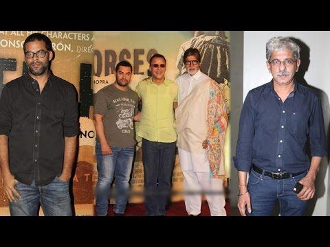 Vikramaditya Motwane, Sriram Raghavan and other Bollywood stars at the screening of 'Broken Horses'