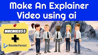 Download lagu How To Make An Explainer Video Using AI (Nichesss + Renderforest)