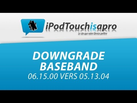 Downgrade Baseband 06.15.00 vers 05.13.04 pour iPhone 3G / 3GS !