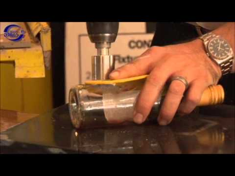 How to drill glass drilling glass bottles vases glass for Best way to drill glass bottle