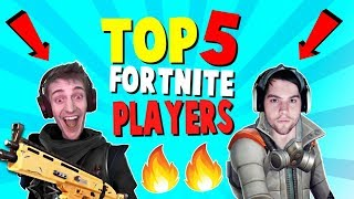 TOP 5 BEST Fortnite Players (Fortnite Battle Royale) | Ranking Ninja, Dakotaz, and MORE