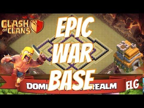 Clash of Clans Epic Clan War/Trophy Base   Town Hall 7 War Base   No Barbarian King Defensive Base