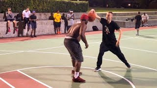 Professor vs Smack Talker 1v1 Houston Hood Court.. GETS CALLED OUT, forced duel