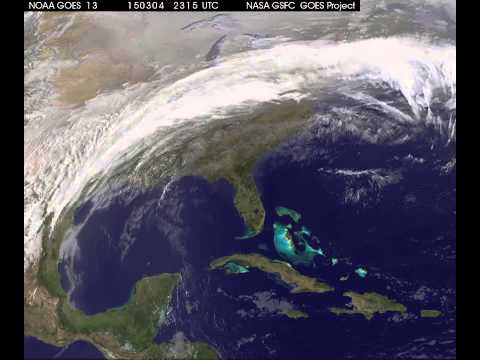 GOES Video of the Winter Storm of March 3-5, 2015