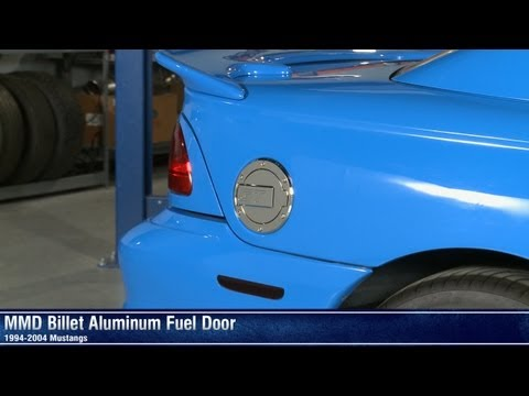 Mustang MMD Black and Chrome Billet Aluminum Fuel Doors (94-04 All) Review